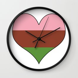 Gynesexual Heart Wall Clock