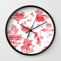 montreal Wall Clocks featuring Montreal Scenic by Audrey Fortin