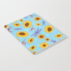 Sunflowers & Dragonflies Notebook