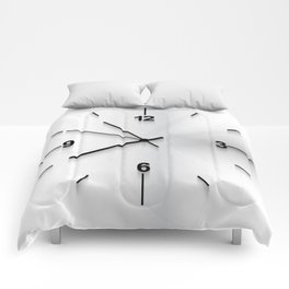 Wall clock background Comforters