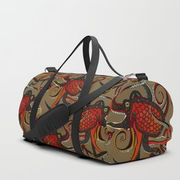octopus ink umber Duffle Bag