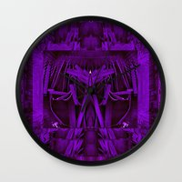 leather Wall Clocks featuring Leather Man by Pepita Selles
