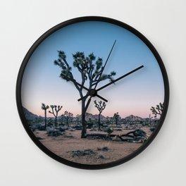 Joshua Tree at Sunset Wall Clock