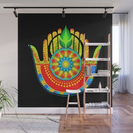 hamsa hand multi fingered and colored Wall Mural