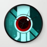 transistor Wall Clocks featuring The Paintbrush by Grimaldo
