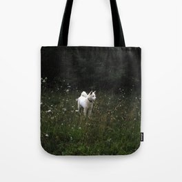 White dog named Wolf Tote Bag