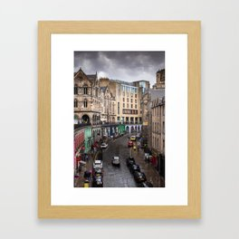 Victoria Street in Edinburgh, Scotland Framed Art Print