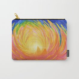 """Lotus Abstract Painting, """"Unfoldment"""" Carry-All Pouch"""