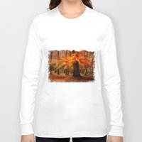 hiccup Long Sleeve T-shirts featuring Fall skirt by hannes cmarits (hannes61)