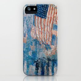 The Avenue in the Rain by Childe Hassam, 1917 iPhone Case