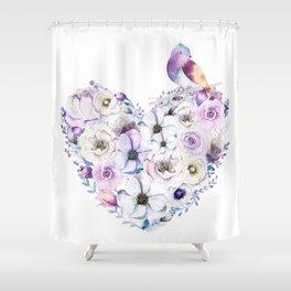 Heart Bouquet flowers #2 Shower Curtain
