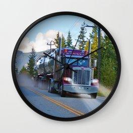 Trans Canada Trucker Wall Clock