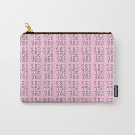 number 2- count,math,arithmetic,calculation,digit,numerical,child,school Carry-All Pouch