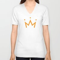 crown V-neck T-shirts featuring Crown by Eman Al.Amir
