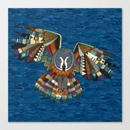 night owl blue Canvas Print