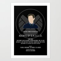 agents of shield Art Prints featuring Agents of S.H.I.E.L.D. - Fitz by MacGuffin Designs