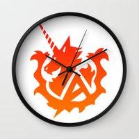 gundam Wall Clocks featuring Amuro Hi Nu Gundam Emblem by Nanico