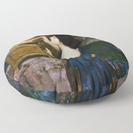PANDORAS BOX - JOHN WILLIAM WATERHOUSE  Floor Pillow