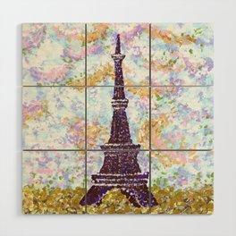 Eiffel Tower Pointillism by Kristie Hubler Wood Wall Art