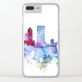 Jacksonville watercolor skyline Clear iPhone Case