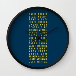 Vlog Squad Navy III Wall Clock