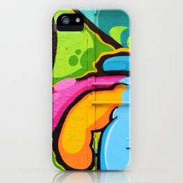 Psychedelic Graffiti (Color) iPhone Case