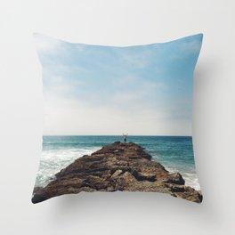 Rocks in the Ocean Throw Pillow