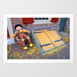 Historic Elfreth Alley - Halloween Art Print
