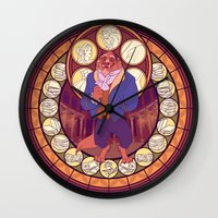 beast Wall Clocks featuring Beast by NicoleGrahamART