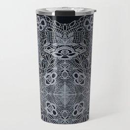 Crocheted Lace Mandala Travel Mug