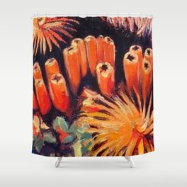 Tube Coral Shower Curtain