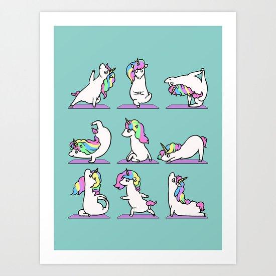 Unicorn Yoga by huebucket