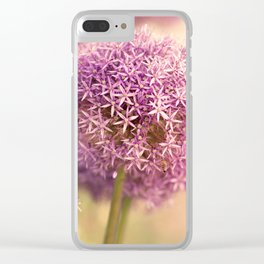 Great allium, friendly brighteamy summer garden wit Clear iPhone Case