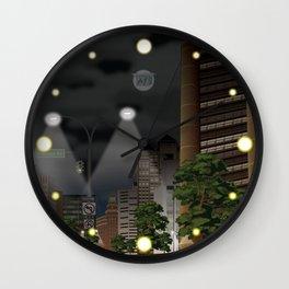 Elm City Green Wall Clock