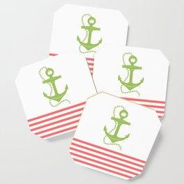 AFE Green Nautical Anchor Coaster