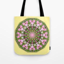 Bleeding heart, Nature Flower Mandala, Floral mandala-style Tote Bag
