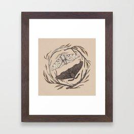 Peppered Moths Framed Art Print
