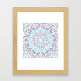 Bohemian Heaven Mandala Purple Blue White Framed Art Print
