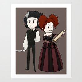 Sweeney Todd & Mrs. Lovett Art Print