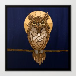 Mosaic Owl Canvas Print