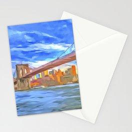 Brooklyn Bridge New York Pop Art Stationery Cards