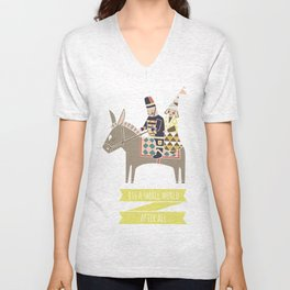 Its a Small World Unisex V-Neck