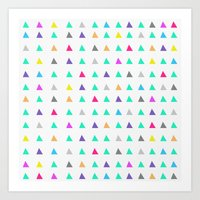 confetti Art Prints featuring Confetti by Leah Flores