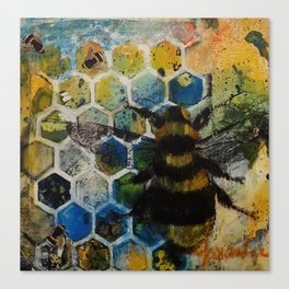 Bee Kind to One Another Canvas Print