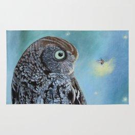 Owl and Lightning Bugs Rug
