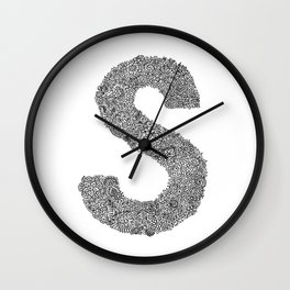 S is for Sabrina Wall Clock