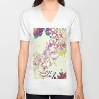 maps V-neck T-shirts featuring Maps by MonsterBrown