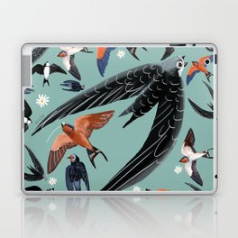 Swallows Martins and Swift pattern Turquoise Laptop & iPad Skin