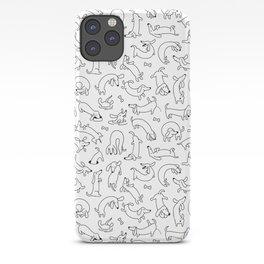 Funny Dachshund Art iPhone Case