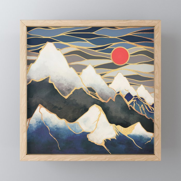 Ice Mountains Framed Mini Art Print